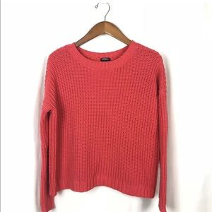 Vintage 90s Express chunky CROPPED Sweater Top